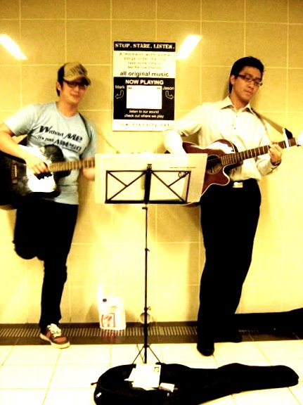 Low intensity's 2nd busking session at the taka-lucky plaza underpass
